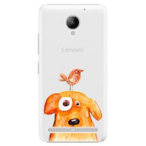 Plastové puzdro iSaprio - Dog And Bird - Lenovo C2