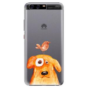Plastové puzdro iSaprio - Dog And Bird - Huawei P10 Plus