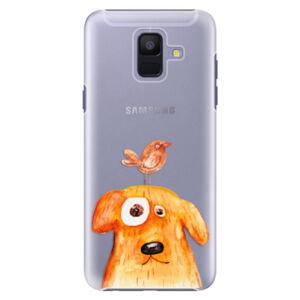 Plastové puzdro iSaprio - Dog And Bird - Samsung Galaxy A6