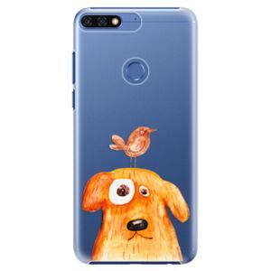 Plastové puzdro iSaprio - Dog And Bird - Huawei Honor 7C