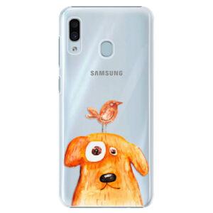 Plastové puzdro iSaprio - Dog And Bird - Samsung Galaxy A30