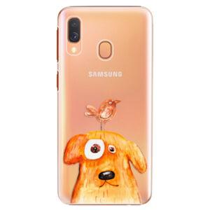 Plastové puzdro iSaprio - Dog And Bird - Samsung Galaxy A40