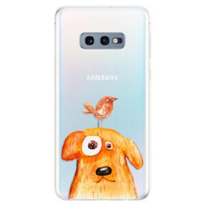 Odolné silikonové pouzdro iSaprio - Dog And Bird - Samsung Galaxy S10e