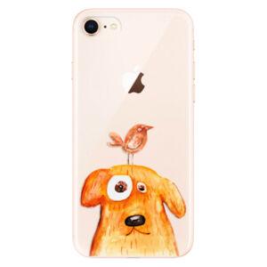 Odolné silikónové puzdro iSaprio - Dog And Bird - iPhone 8