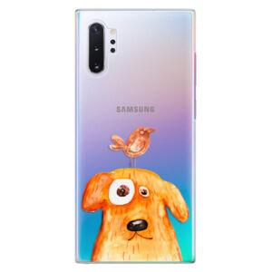 Plastové puzdro iSaprio - Dog And Bird - Samsung Galaxy Note 10+