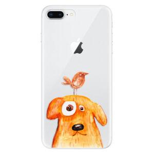 Odolné silikónové puzdro iSaprio - Dog And Bird - iPhone 8 Plus