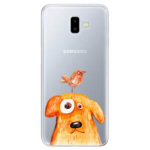 Odolné silikónové puzdro iSaprio - Dog And Bird - Samsung Galaxy J6+