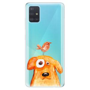 Odolné silikónové puzdro iSaprio - Dog And Bird - Samsung Galaxy A51