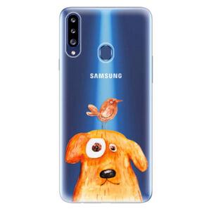 Odolné silikónové puzdro iSaprio - Dog And Bird - Samsung Galaxy A20s
