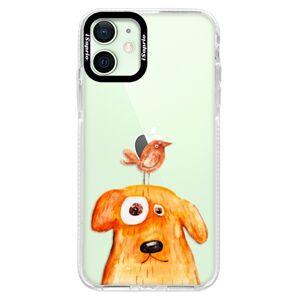 Silikónové puzdro Bumper iSaprio - Dog And Bird - iPhone 12