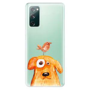 Odolné silikónové puzdro iSaprio - Dog And Bird - Samsung Galaxy S20 FE
