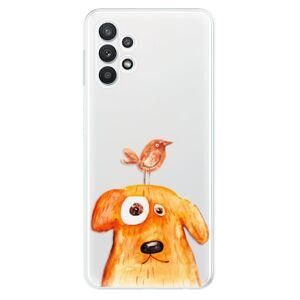 Odolné silikónové puzdro iSaprio - Dog And Bird - Samsung Galaxy A32 5G