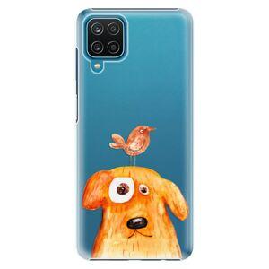 Plastové puzdro iSaprio - Dog And Bird - Samsung Galaxy A12