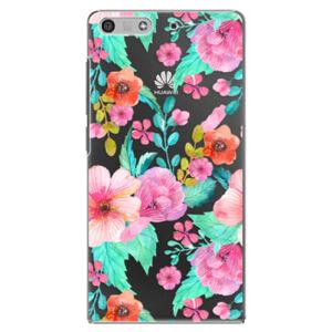 Plastové puzdro iSaprio - Flower Pattern 01 - Huawei Ascend P7 Mini