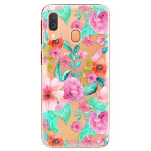 Plastové puzdro iSaprio - Flower Pattern 01 - Samsung Galaxy A40