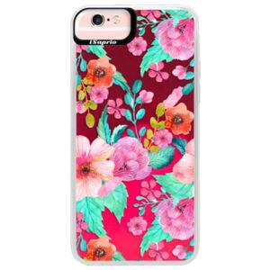 Neónové púzdro Pink iSaprio - Flower Pattern 01 - iPhone 6 Plus/6S Plus