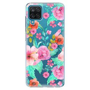 Plastové puzdro iSaprio - Flower Pattern 01 - Samsung Galaxy A12