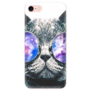 Odolné silikónové puzdro iSaprio - Galaxy Cat - iPhone 7