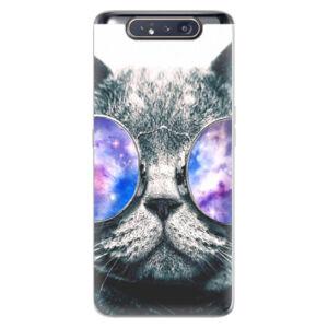 Odolné silikónové puzdro iSaprio - Galaxy Cat - Samsung Galaxy A80