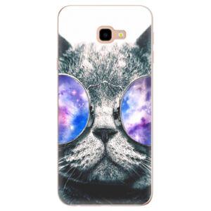 Odolné silikónové puzdro iSaprio - Galaxy Cat - Samsung Galaxy J4+