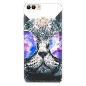 Odolné silikónové puzdro iSaprio - Galaxy Cat - Huawei P Smart
