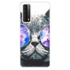 Odolné silikónové puzdro iSaprio - Galaxy Cat - Huawei P Smart 2021