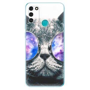 Odolné silikónové puzdro iSaprio - Galaxy Cat - Honor 9A