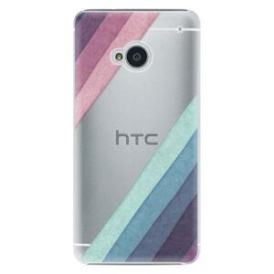 Plastové puzdro iSaprio - Glitter Stripes 01 - HTC One M7