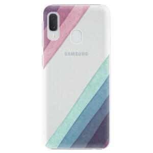 Plastové puzdro iSaprio - Glitter Stripes 01 - Samsung Galaxy A20e