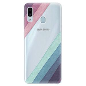 Silikónové puzdro iSaprio - Glitter Stripes 01 - Samsung Galaxy A30
