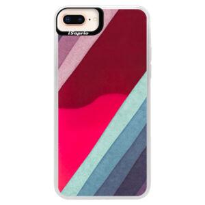 Neónové púzdro Pink iSaprio - Glitter Stripes 01 - iPhone 8 Plus