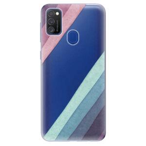 Odolné silikónové puzdro iSaprio - Glitter Stripes 01 - Samsung Galaxy M21
