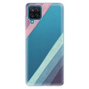 Odolné silikónové puzdro iSaprio - Glitter Stripes 01 - Samsung Galaxy A12
