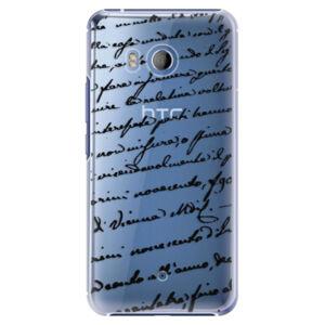 Plastové puzdro iSaprio - Handwriting 01 - black - HTC U11