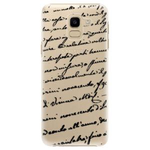 Plastové puzdro iSaprio - Handwriting 01 - black - Samsung Galaxy J6