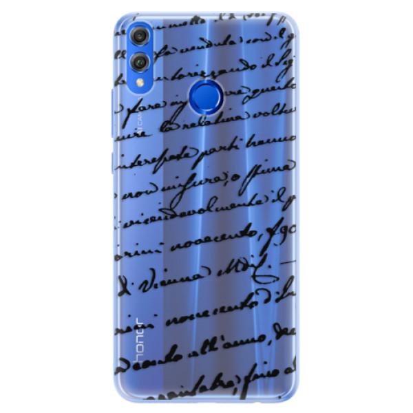 Silikónové puzdro iSaprio - Handwriting 01 - black - Huawei Honor 8X