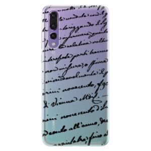 Silikónové puzdro iSaprio - Handwriting 01 - black - Huawei P20 Pro