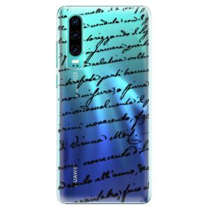 Plastové puzdro iSaprio - Handwriting 01 - black - Huawei P30