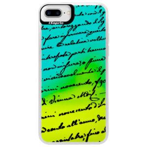 Neónové puzdro Blue iSaprio - Handwriting 01 - black - iPhone 7 Plus