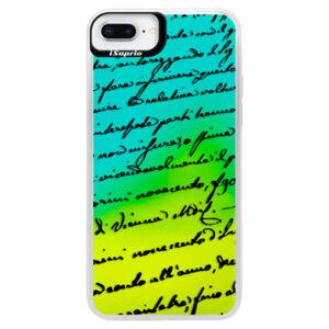 Neónové puzdro Blue iSaprio - Handwriting 01 - black - iPhone 8 Plus