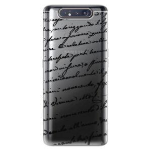 Odolné silikónové puzdro iSaprio - Handwriting 01 - black - Samsung Galaxy A80