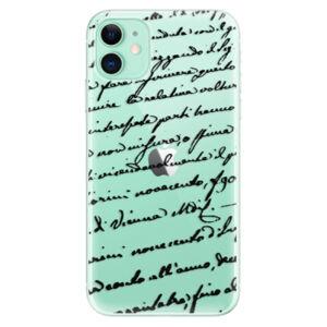 Odolné silikónové puzdro iSaprio - Handwriting 01 - black - iPhone 11