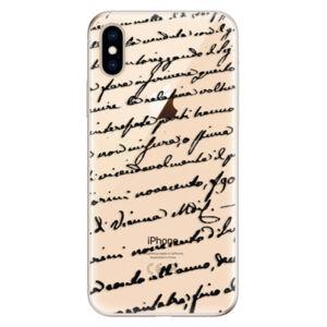Odolné silikónové puzdro iSaprio - Handwriting 01 - black - iPhone XS