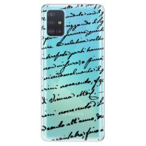 Odolné silikónové puzdro iSaprio - Handwriting 01 - black - Samsung Galaxy A51