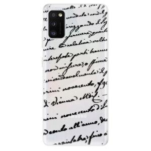 Odolné silikónové puzdro iSaprio - Handwriting 01 - black - Samsung Galaxy A41