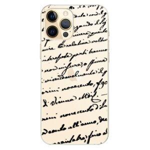 Plastové puzdro iSaprio - Handwriting 01 - black - iPhone 12 Pro