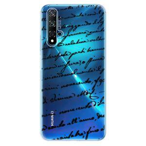 Odolné silikónové puzdro iSaprio - Handwriting 01 - black - Huawei Nova 5T