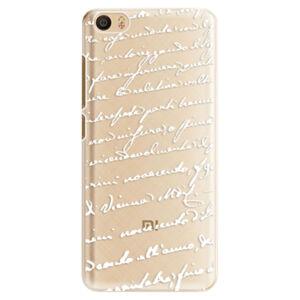 Plastové puzdro iSaprio - Handwriting 01 - white - Xiaomi Mi5