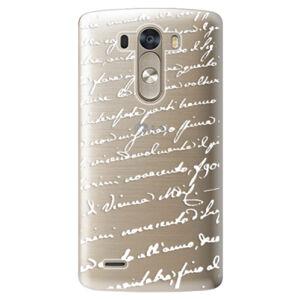 Plastové puzdro iSaprio - Handwriting 01 - white - LG G3 (D855)