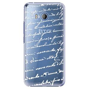 Plastové puzdro iSaprio - Handwriting 01 - white - HTC U11